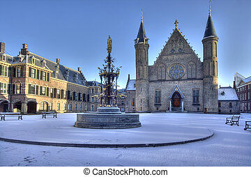 Ridderzaal in Snow - Dutch Parliament in The Hague in snow