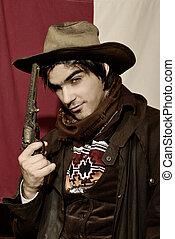 cowboy  - handsome boy in cowboy clothes