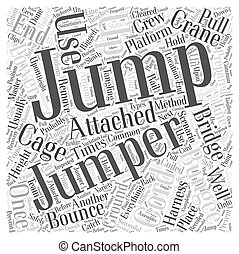 Where To Bungee Jump Word Cloud Concept