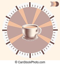 Time for coffee  infographics.