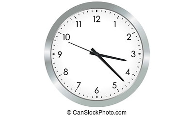 Analogue clock with fast moving hands