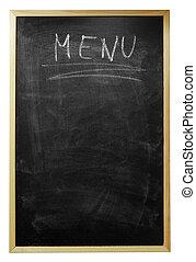 menu written on billboard