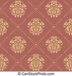 Vintage pattern seamless baroque style. Floral wallpaper...