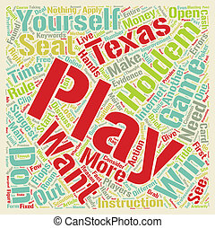 Why Can t I Win at Online Texas Holdem text background...