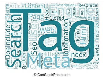 Why Meta Tags used Word Cloud Concept Text Background