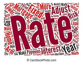 Why Choose an Adjustable Rate Mortgage Word Cloud Concept Text Background