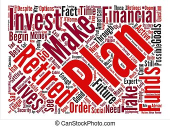 Why Plan for Retirement Word Cloud Concept Text Background