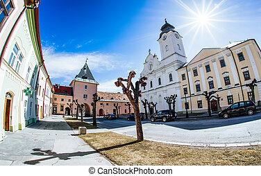 Jistoric centre of town Levoca, Slovakia - LeVOCA, SLOVAKIA...