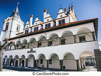 Historic town hall in town Levoca, Slovakia - LEVOCA,...