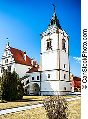 Historic town hall in city Levoca, Slovakia - Historic...