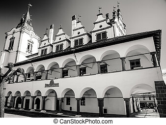 Historic town hall in town Levoca, Slovakia - Historic town...