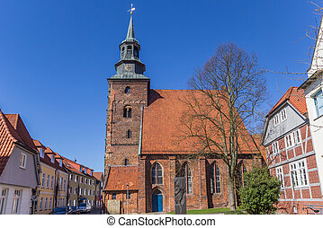 Johannis church in the old center of Verden, Germany