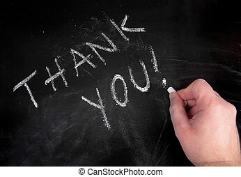 thank you - hand writing thank you