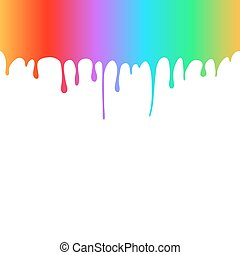 Rainbow Colored Paint Drops