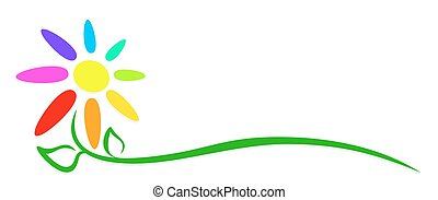 Flower logo. - Logo of the stylized color flower.