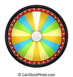 lucky spin eighteen yellow - 3d illustration of lucky spin...