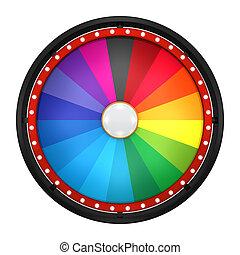 wheel fortune eighteen black - 3d illustration of lucky spin...