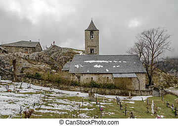 Roman Church of Sant Joan de Boi, Catalonia - Spain - Roman...