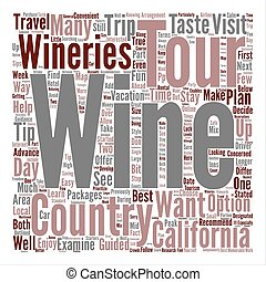 Wine Country Travel Tips Word Cloud Concept Text Background