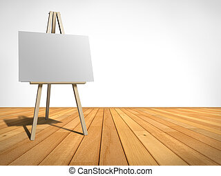 easel - empty room with an easel