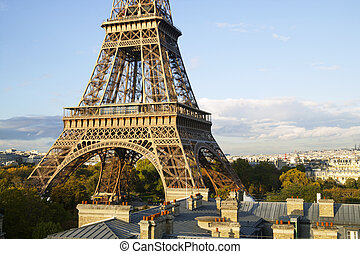 Elevated view of the Eiffel Tower,