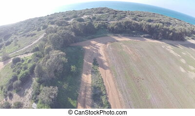 POV Drone with camera attached - Shot of POV Drone with...