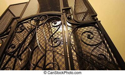 Preserved ancient elevator - Shot of Preserved ancient...