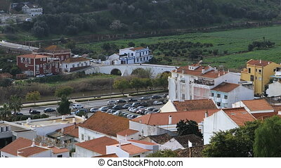 Rooftop view, Silves in Portugal - A Rooftop view, Silves in...