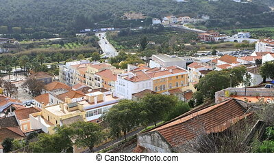 Rooftop view in Silves, Portugal - A Rooftop view in Silves,...