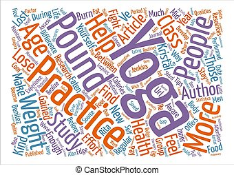 Yoga Helps Fight Mid Life Bulge text background word cloud...