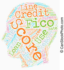 You And Your FICO Score text background wordcloud concept