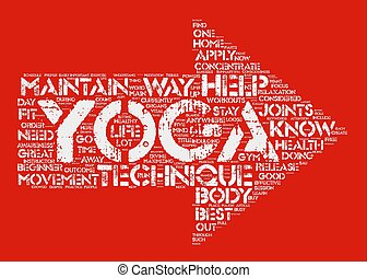 Yoga For Beginners Yoga techniques on the loose text...