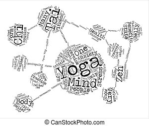 Yoga Tai Chi and the State of Zen Word Cloud Concept Text Background