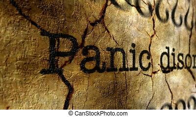 Panic disorder grunge concept