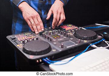 konsol, Klubba, musik, Natt, blandande,  DJ
