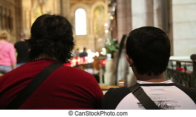 People sitting in a church - Shot of People sitting in a...