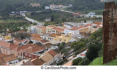 View from rooftops in Silves, Portugal - A View from...