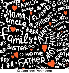 Family. seamless pattern for your design. Vector...