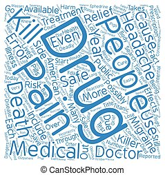 Can the Cure for Headaches be Worse Than the Pain text background word cloud concept