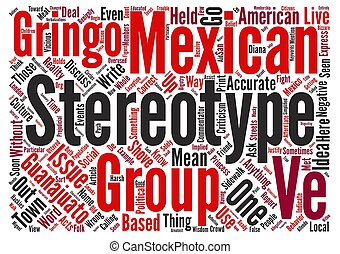 Can t We Discuss Stereotypes text background word cloud...
