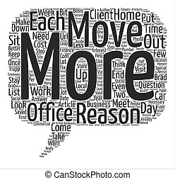 Your Home Office Stay Put or Move Out text background word...