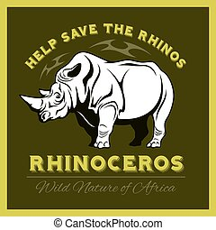 Help save and protect the endangered Rhinos from illegal...