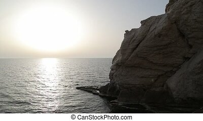 Panoramic view of sea water in Israel - Shot of Panoramic...