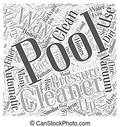 The Benefits of Owning an Automatic Pool Cleaner Word Cloud Concept