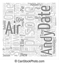 The Andy Griffith Show DVD Review text background word cloud...