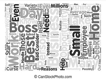 The Best Boss text background word cloud concept