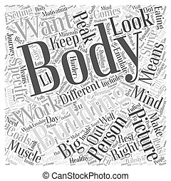 The Big Picture in Body Building Word Cloud Concept