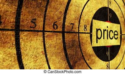 Price grunge target concept