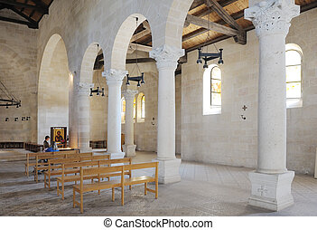 Church Tabgha, interior - Interior of The Church of the...