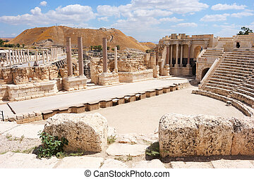 Ancient ruins - Ruins of the ancient Roman city Bet Shean,...